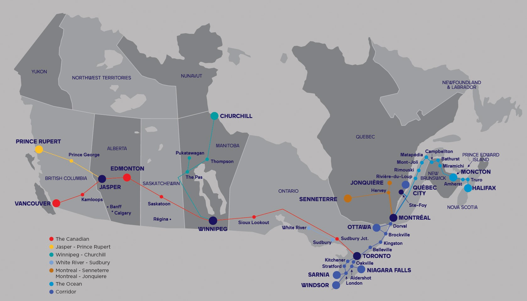 VIA Rail Train Network