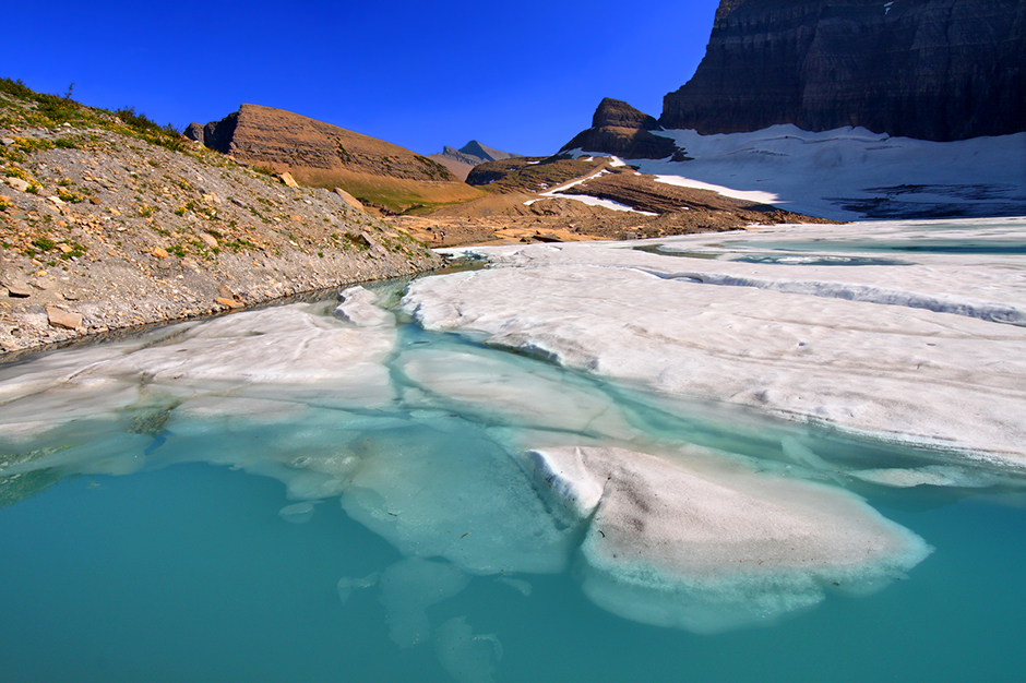 Blue Glacier at Glacier National Park