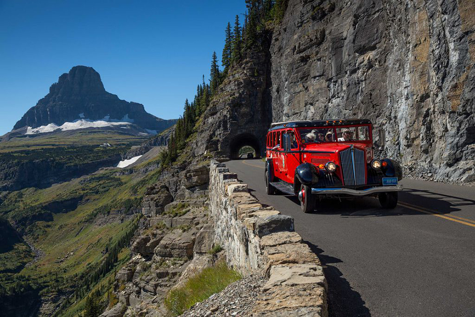 Jammer Tour Car at Glacier National Park