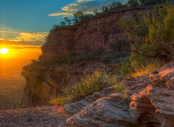 Grand Junction at Sunset