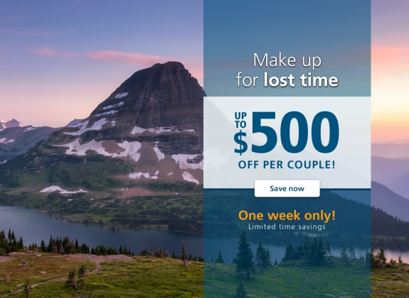glacier national park make up for lost time flash sale banner