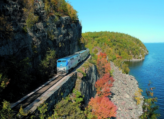 Experience fall foliage scenery by train with Amtrak Vacations