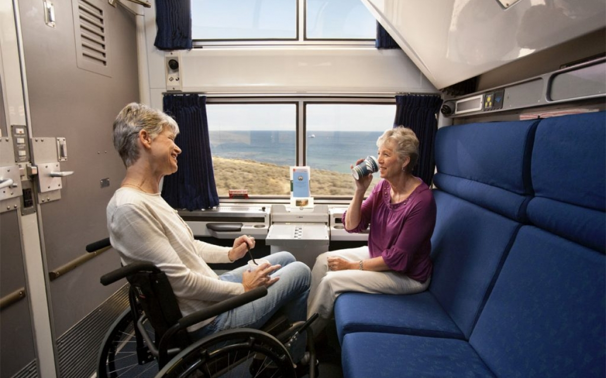 Friends in the Viewliner Wheelchair Accessible spaces