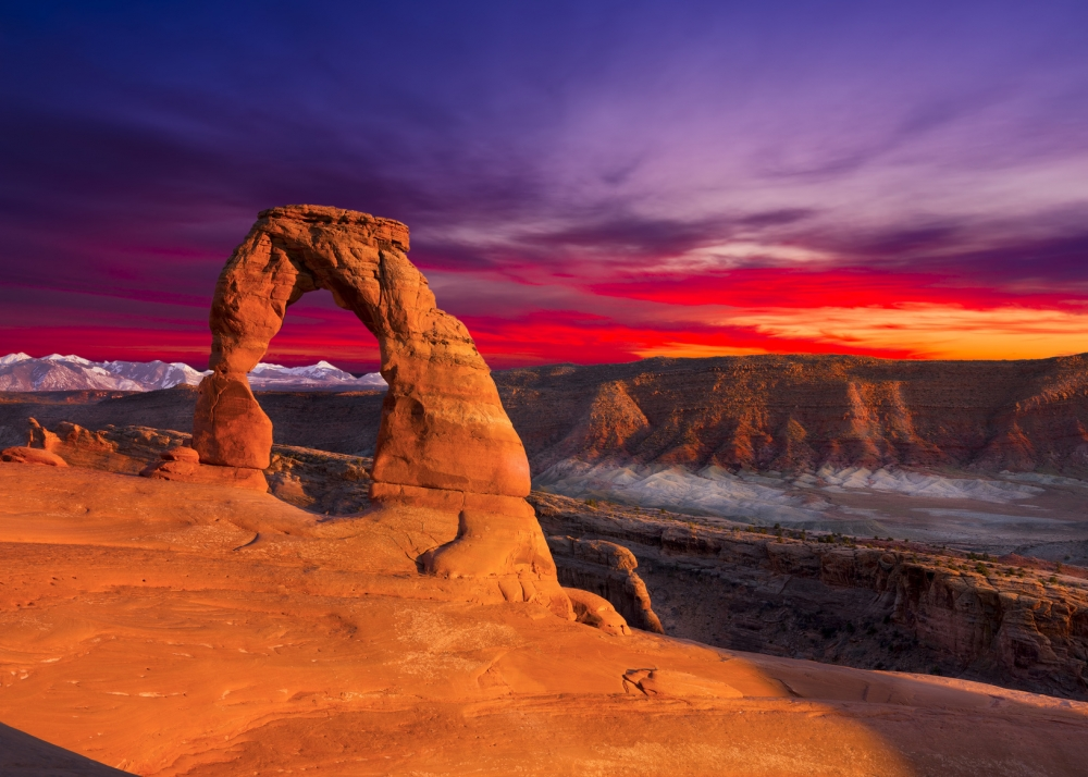 Arches_sunset