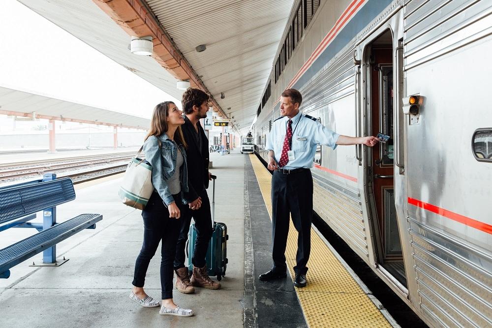 Boarding Amtrak Train