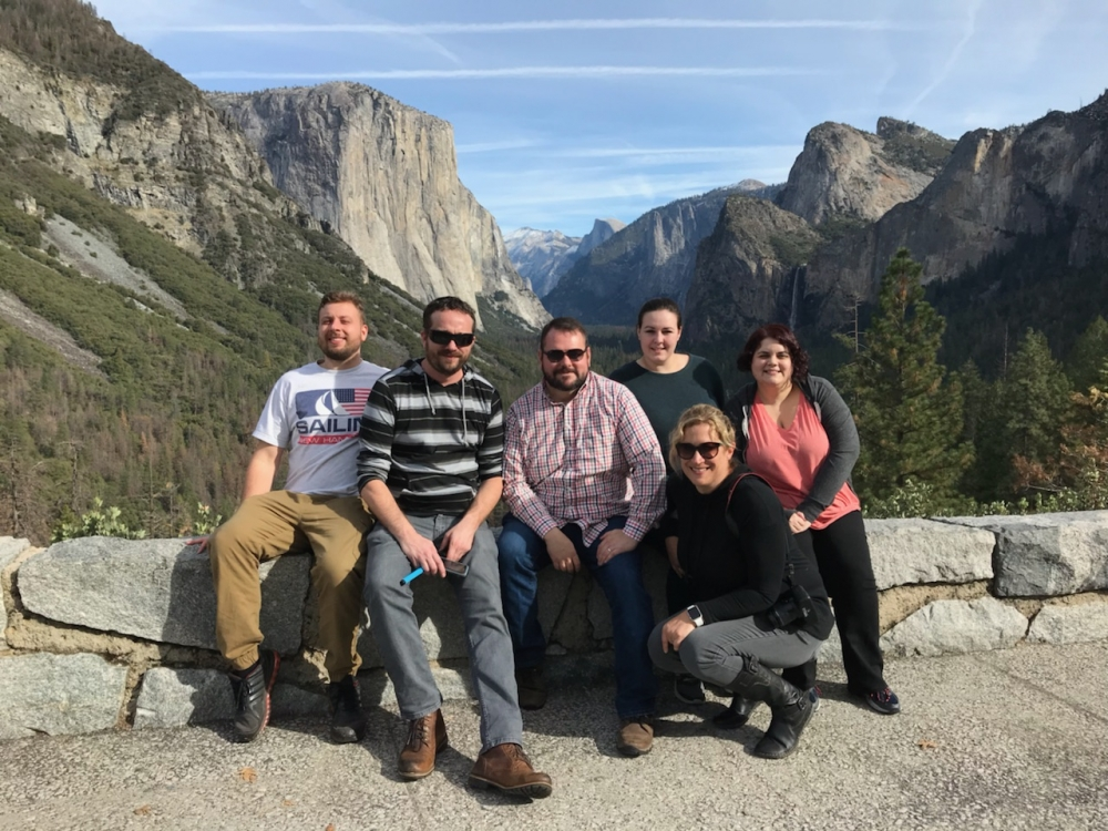 Jill in Yosemite with group