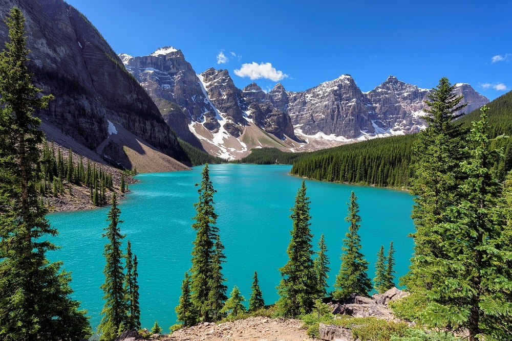 canadian rockies view with lake