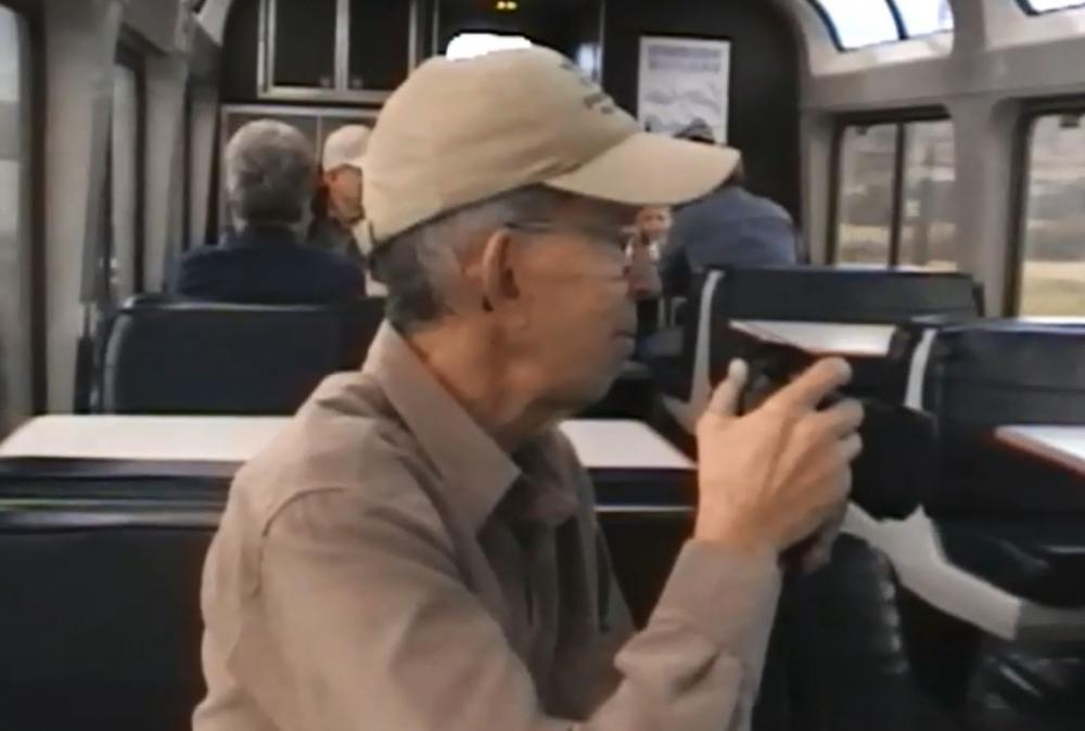 Onboard the train - traveler