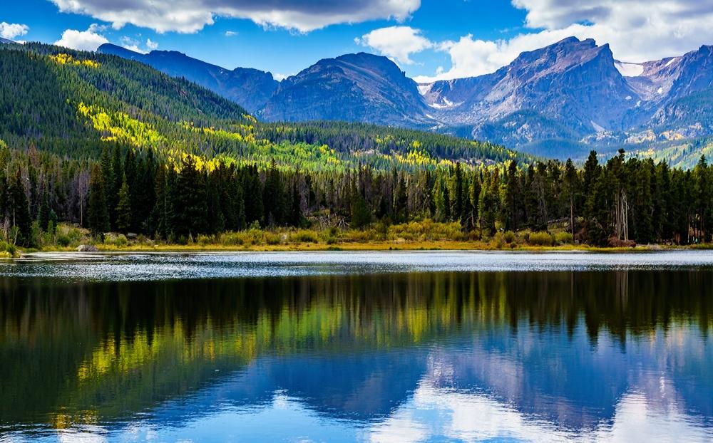 Sprague Lake in Rocky Mountain National Park Colorado