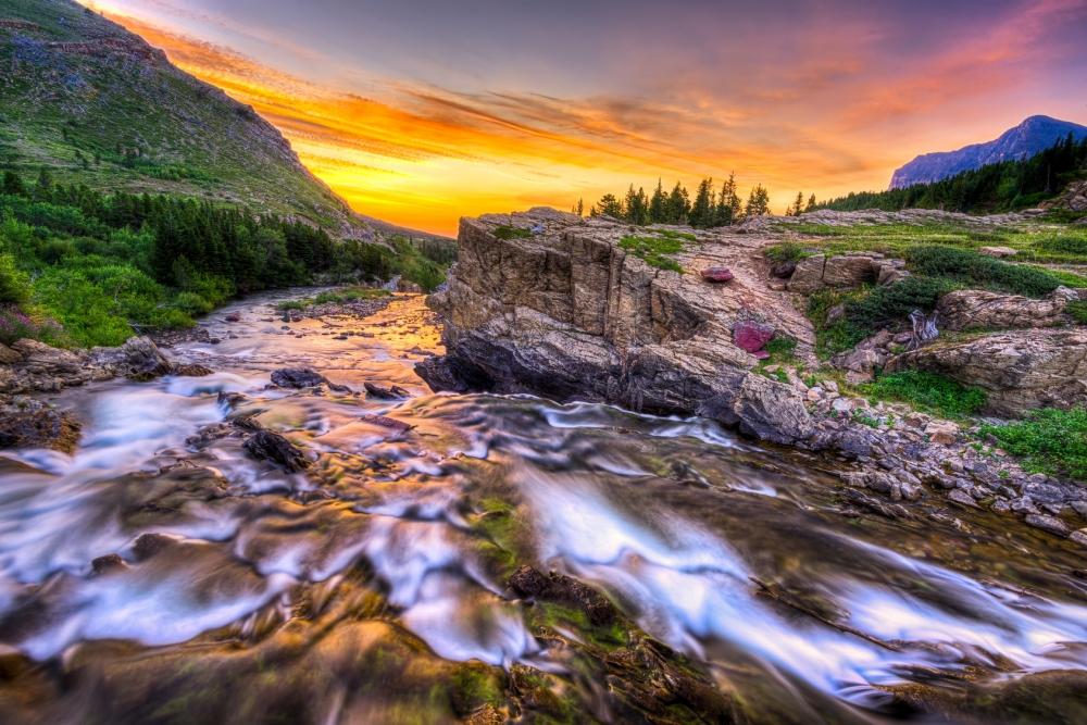 Swiftcurrent Creek at Dawn