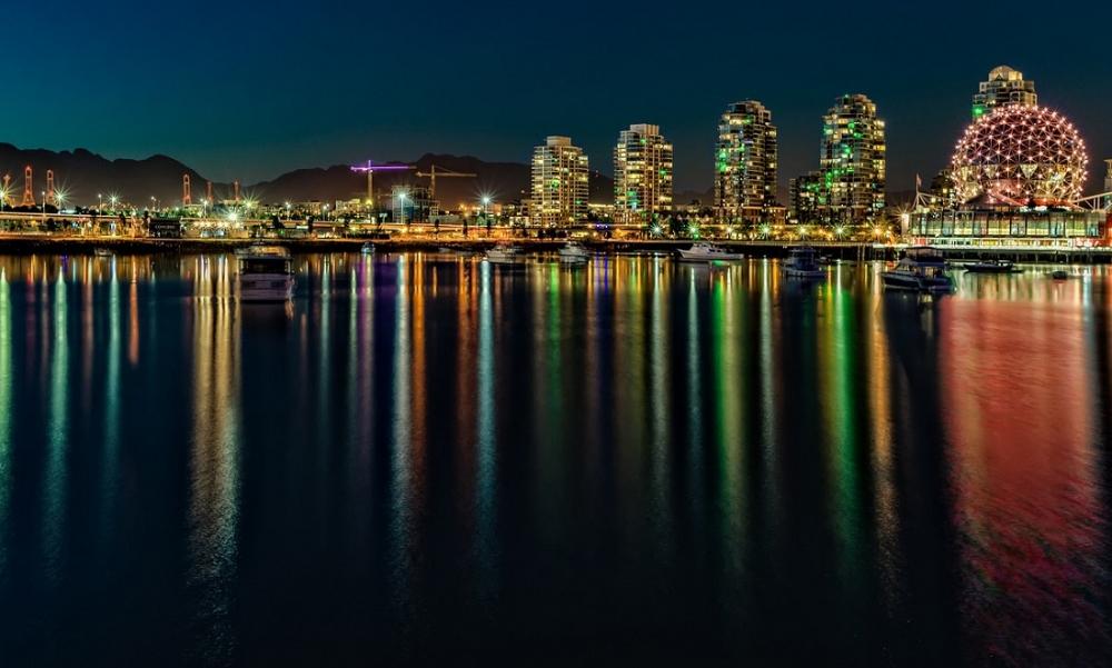 Vancouver B.C. Bay at Night