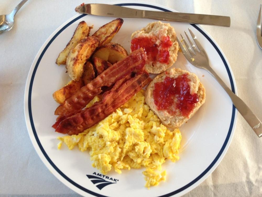 Breakfast on Amtrak
